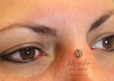 Eyeliner boevn en onder genezen Mariska van Rooij permanente make-up