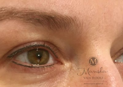 Eyeliner na 1 behandeling resultaat
