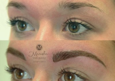 Hairstroke meteen na de behandeling Mariska van Rooij permanente make-up