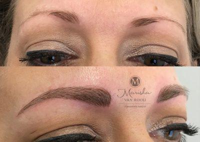 Microblading bredere wenkbrauw Mariska van Rooij permanente make-up