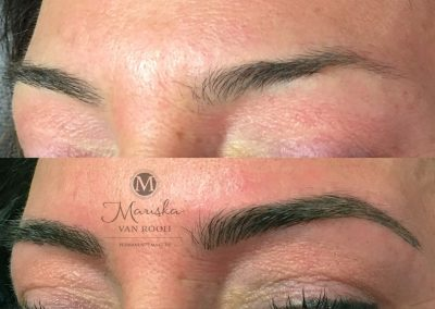 Microblading donkere wenkbrauwen Mariska van Rooij permanente make-up
