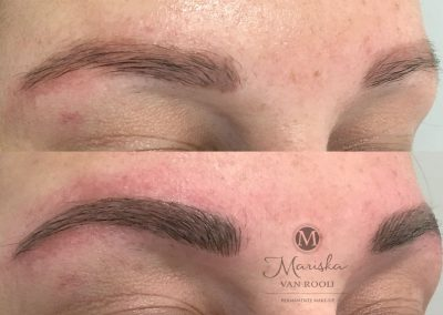 Microblading over oude pmu Mariska van Rooij permanente make-up
